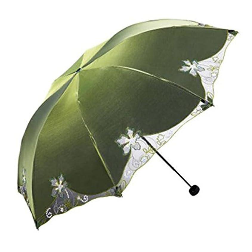 年金受給者系統的衝撃パラダイス386eハイエンド刺繍太陽の傘クリエイティブビニール三重太陽の傘の贈り物の傘