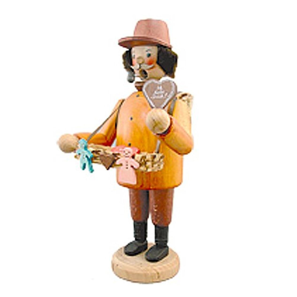 刺繍ブリリアント一kuhnert(クーネルト) パイプ人形香炉 120×200mm 「菓子売り」