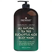 ALL Natural Tea Tree Body Wash - Fights Body Odor, Athlete's Foot, Jock Itch, Nail Issues, Dandruff, Acne, Ecz