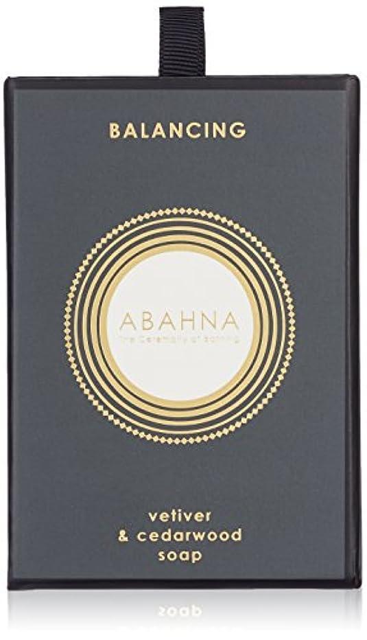 錆び比率廃止するアバーナ ソープ ベチバー&シダーウッド 170g
