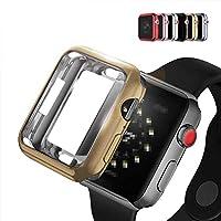Apple Watch Series4 ケース/カバー メッキ 44mm TPU メタル調 鏡面加工 アップルウォッチ4 ソフトカバー (ブラック)