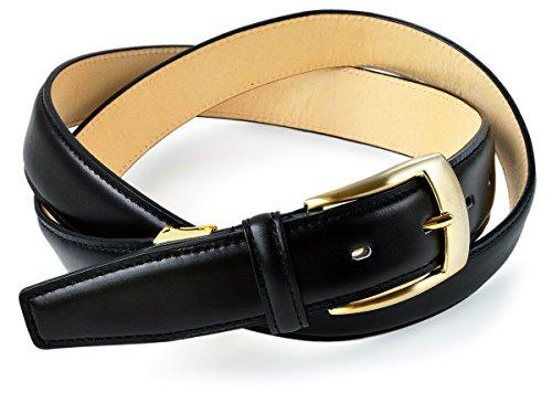 (タバラット)TAVARAT 日本製 紳士ベルト 【 本革 BOXカーフ 30mm メンズ サイズ調節可 】 (ブラック×ゴールドバックル) Tps-015_bkg