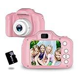 トイカメラ TANOKI キッズカメラ 子供用カメラ 800万画素 95g軽量 2.0インチIPS 4,500枚連続写真 日本語取扱説明書 16GB SDカード附き デジカメ クリスマス 誕生日 プレゼント ギフト ピンク