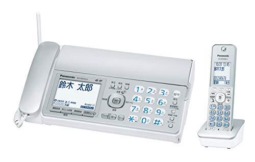 パナソニック デジタルコードレスFAX 子機1台付き 1.9GHz DECT準拠方式 シルバー KX-PZ310DL-S