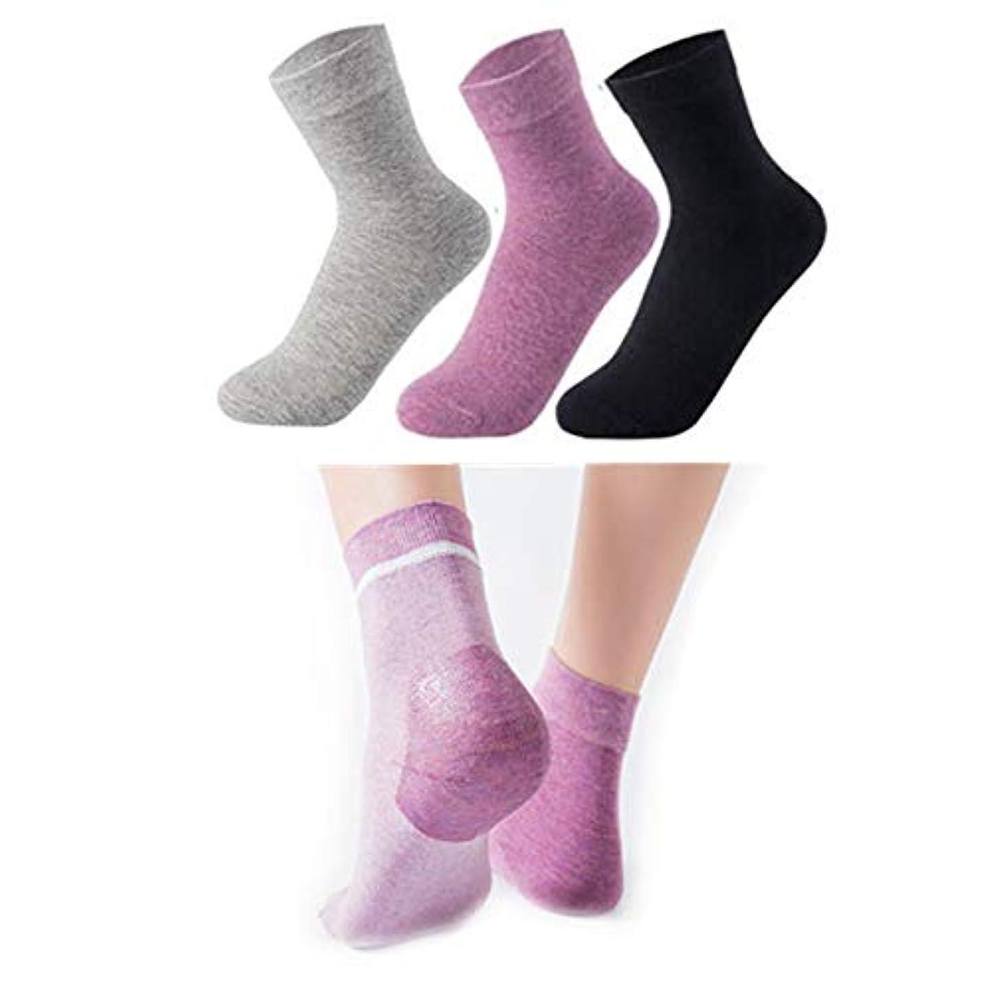 夏墓地寄託Sweetimes かかとケアソックス 保湿効果 靴下 がさがさ つるつる ひび割れ うるおい 3色セット No.149 (女性)