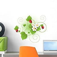 Strawberry Wall Mural by Wallmonkeys Peel and Stick Graphic (18 in W x 15 in H) WM344418 [並行輸入品]