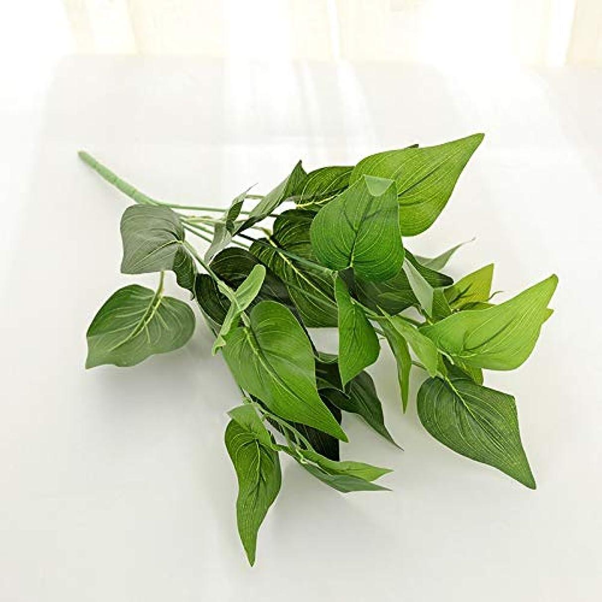 アイロニー事業内容外国人YHWJP 人工観葉植物 人工植物フェイクグリーンの葉ガーデンホームデコレーション模擬プラントウォールアクセサリー結婚式の装飾パーティー用品 (Color : 5, Size : One Size)