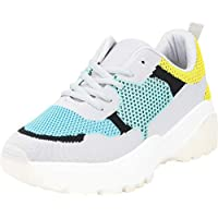 Cambridge Select Women's Mesh Colorblock Retro 90s Ugly Dad Chunky Lace-Up Fashion Sneaker