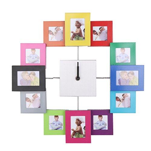 【ノーブランド品】壁掛け時計 インテリア雑貨 壁掛け時計 おしゃれ フォトフレーム ウォールクロック フレーム付