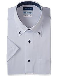[ハルヤマ] i-Shirt 完全ノーアイロン 半袖 ボタンダウンアイシャツ M162180020 メンズ