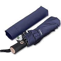 Bodyguard 折り畳み傘 ワンタッチ自動開閉傘 頑丈な10本骨 Teflon撥水加工210T最高級のファブリック 高強度グラスファイバー 耐強風 晴雨兼用 軽量 シンプル 118cm 収納ケース付き 日本国内品質保証 (ブルー)
