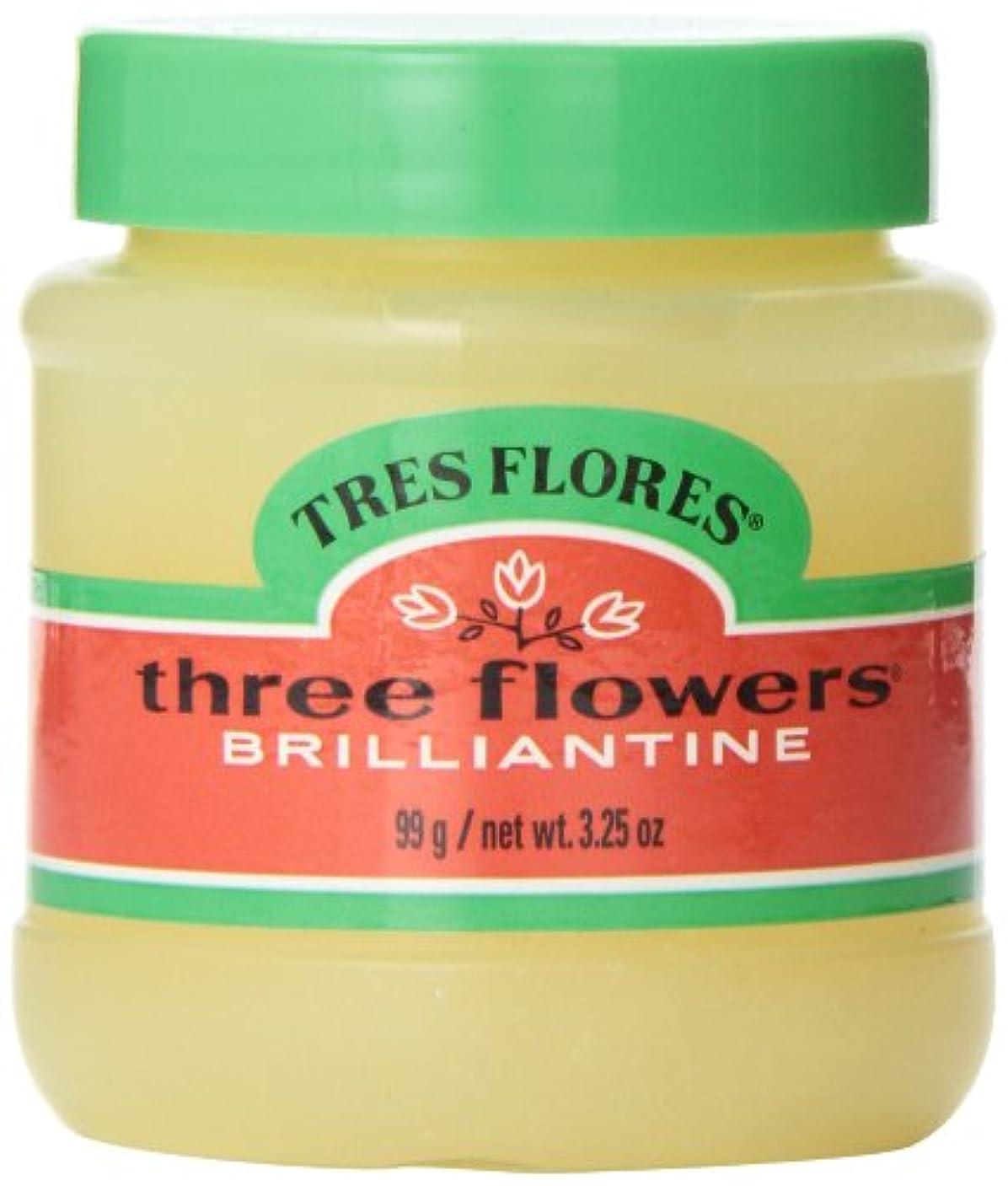 悔い改める提供開梱Three Flowers Brilliantine Pomade Solid 3.25oz