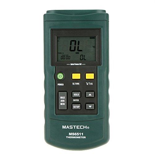 Mastech MS6511 デジタルサーモメーター シングルチャネル 温度テスター K/J/T/E/R/S/N 熱電対 [並行輸入品]