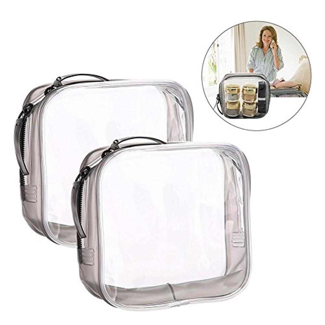 真面目なもつれ溶岩メイクアップバッグ 旅行&家庭用 収納トイレタリー 透明 PVC 化粧品バッグ(S)