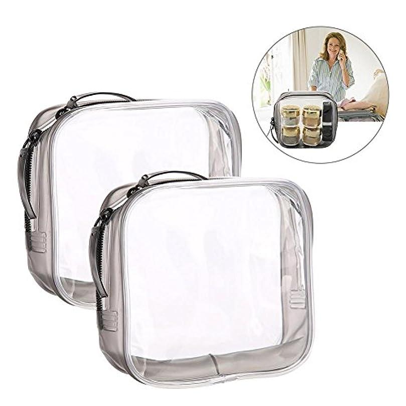 飢えた湿地誤解を招くメイクアップバッグ 旅行&家庭用 収納トイレタリー 透明 PVC 化粧品バッグ(S)