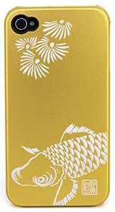 iPhone4用和彩美(WASABI)鋼装飾カバー鯉IP4MC08