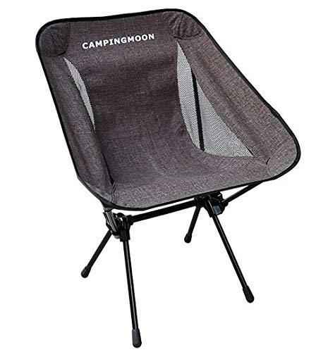 キャピングムーン(CAMPING MOON) アウトドアチェア キャンプ 椅子 コンフォートチェア ポータブルチェア ローチェア ラウンジチェア コンパクト 軽量 降りたたみ 厚手800Dポリエステル・7075超々ジュラルミン使用 収納袋付き (F-2002G)
