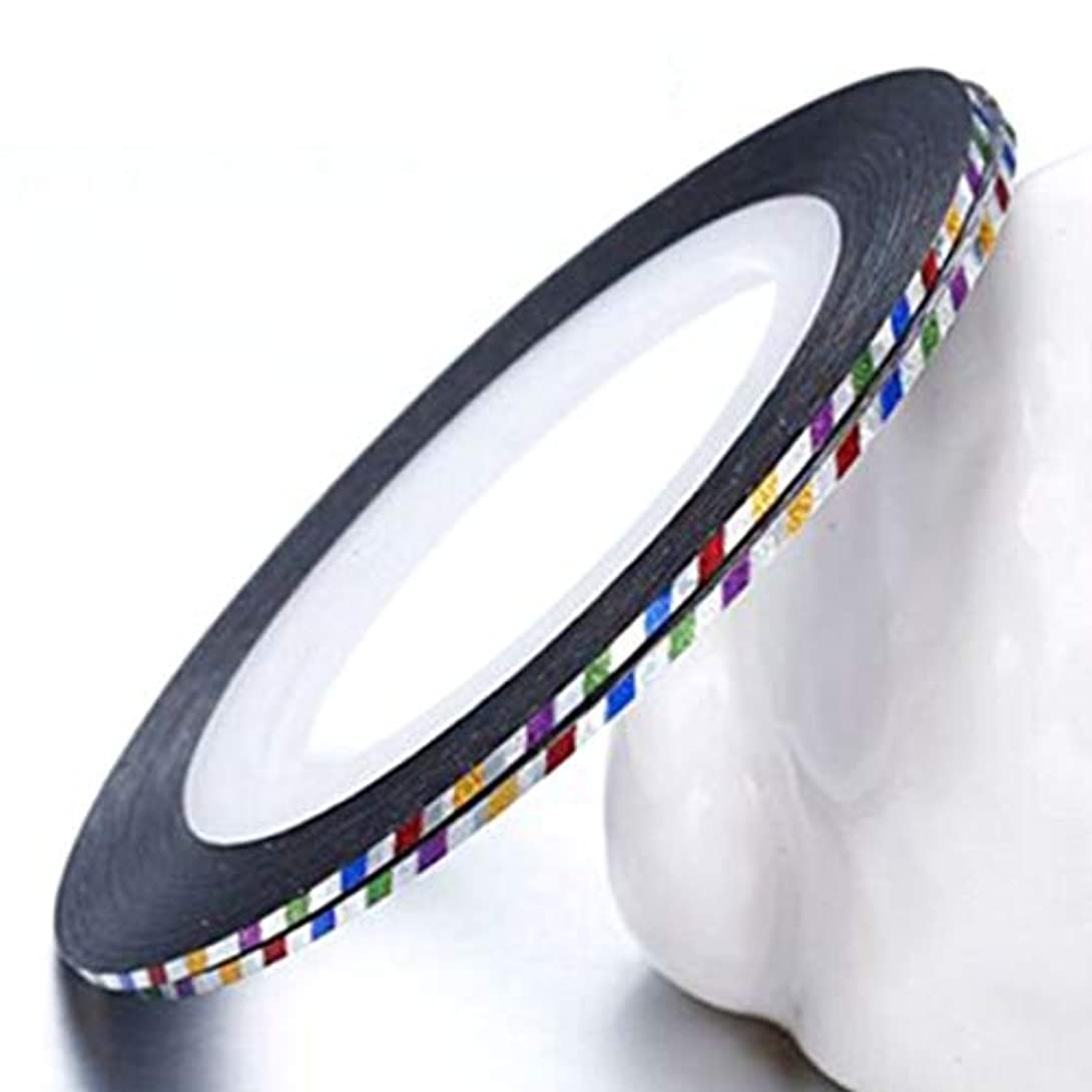 さらにデクリメント限定Yoshilimen 新しいスタイルの爪の装飾色ストライプ釘ステッカーライン釘ラインアートラインゴールドシルバーラインと優れた最新のネイルボリューム10ステッカー(None Laser colorful)