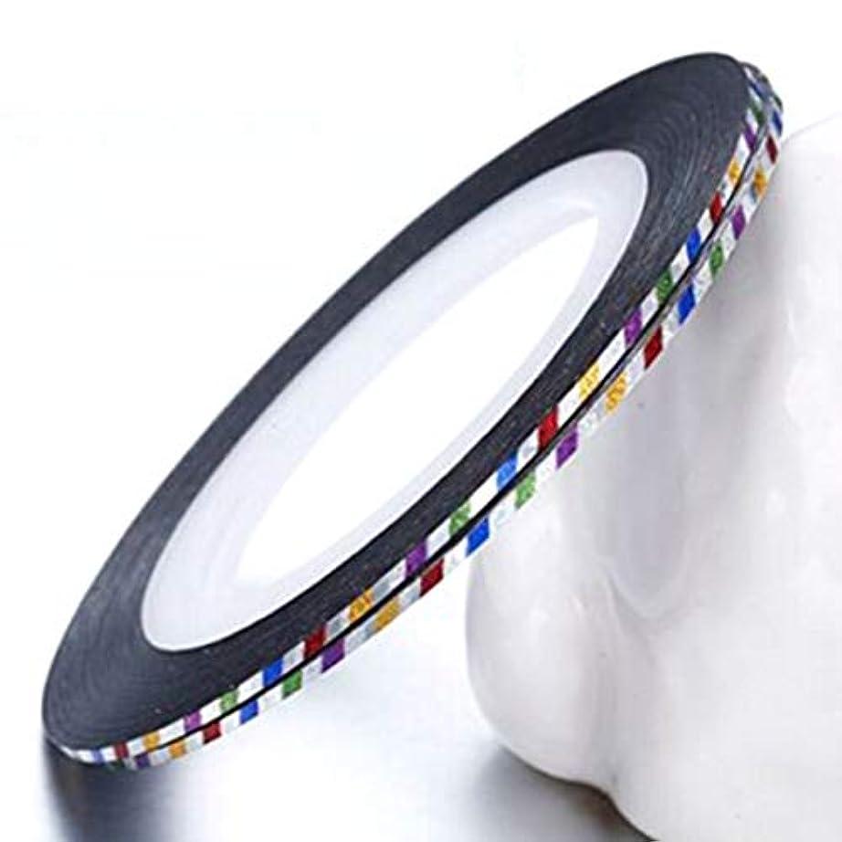 洞察力ご予約教養があるYoshilimen 新しいスタイルの爪の装飾色ストライプ釘ステッカーライン釘ラインアートラインゴールドシルバーラインと優れた最新のネイルボリューム10ステッカー(None Laser colorful)