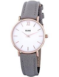 [クルース] CLUSE レディース腕時計 CLUSE CL30002 ミニュイ 33mm ローズゴールド×グレー [並行輸入品]