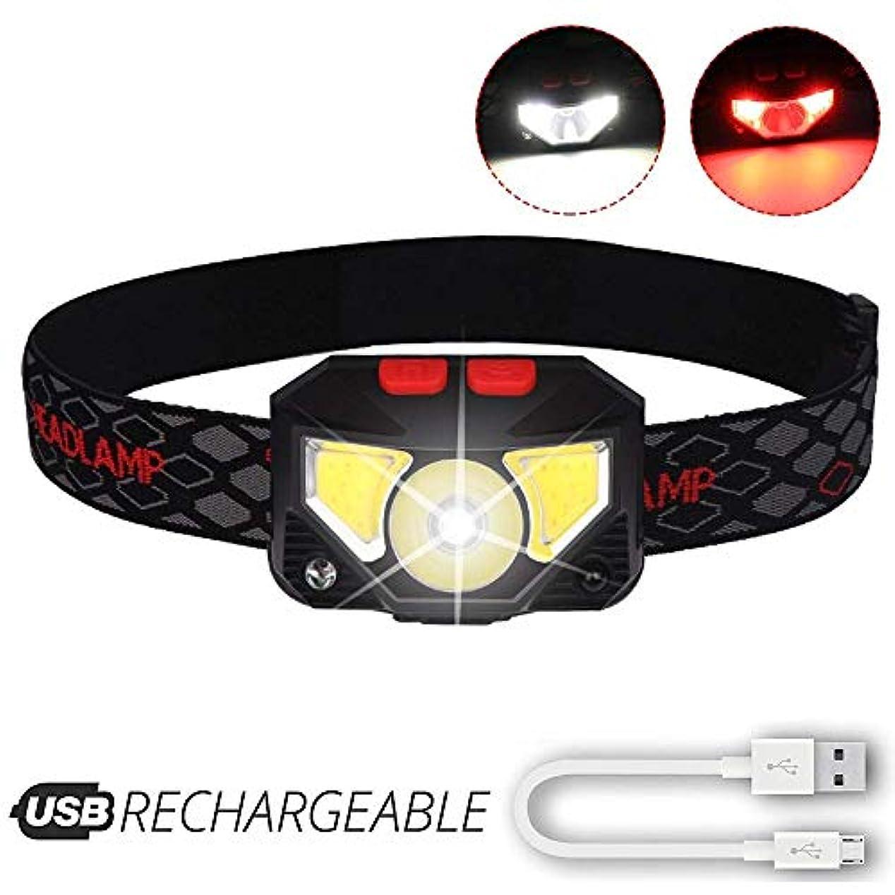 シャンパンブラザー奨励しますヘッドライトヘッドライト、ランニング、釣り、キャンプ、ハイキング、アウトドア用USB充電ケーブル付きLEDワークヘッドライトを充電する内蔵タッチセンサー