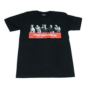 トレインスポッティング イギリス 人気 映画 ヘロイン ストリート系 デザインTシャツ おもしろTシャツ メンズ 半袖 (M, 黒) [並行輸入品]