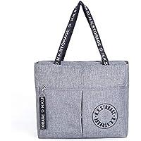 ファッション防水ストレージバッグ旅行ポータブル折り畳みビジネス旅行レジャーストレージパッケージ折り畳み式ストレージバッグ40 * 35 * 17センチメートル (色 : Gray)