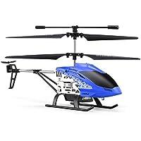 JJR/C JX01ジャイロメタル2.4Gラジオ3CHミニヘリコプターRCリモートコントロールフライングドローンおもちゃギフトプレゼントRTF(色:青)