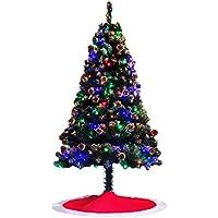 クリスマスツリー 180cm スノーツリー Christmas tree 180センチ 松かさ本物付き プレゼント クリスマスグッズ イルミネーション ツリースカート付き HIMOE (クリスマスツリー+松かさ+多彩LED2本+ツリースカート(レッド))