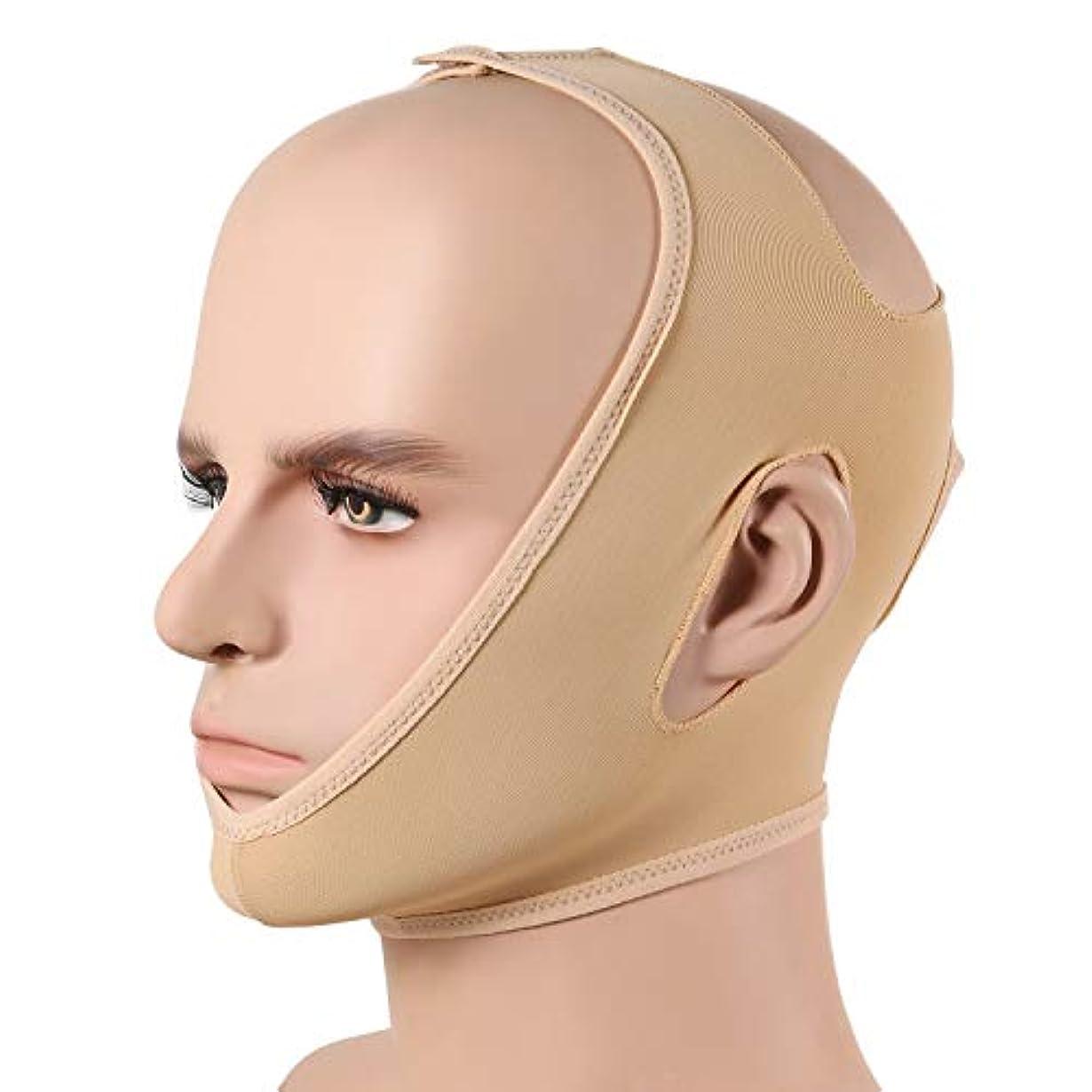 適合する運動毎回WSJTT スリミングベルト、顔の頬のV形状のリフティングフェイスは薄いマスクストラップフェイスラインは通気性の圧縮二重あごスムースリフトアップ包帯チンはアンチリンクルストラップ、Vフェイスラインスリムアップマスクを持ち...