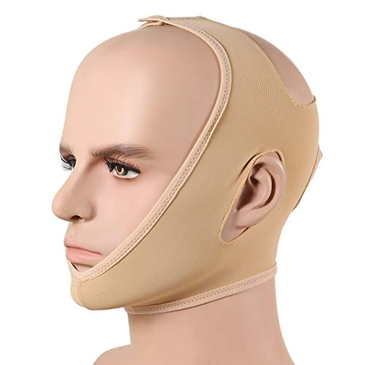 風変わりな追い付く一致するWSJTT スリミングベルト、顔の頬のV形状のリフティングフェイスは薄いマスクストラップフェイスラインは通気性の圧縮二重あごスムースリフトアップ包帯チンはアンチリンクルストラップ、Vフェイスラインスリムアップマスクを持ち上げ削減