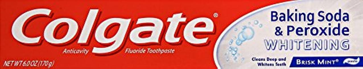 廃止するなめらか発生するColgate 重曹と過酸化物ホワイトニング歯磨き、6オンス