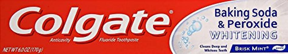 自伝最小四回Colgate 重曹と過酸化物ホワイトニング歯磨き、6オンス