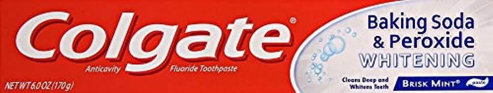 一貫した送る横にColgate 重曹と過酸化物ホワイトニング歯磨き、6オンス