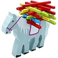 Bienen Lovely Cartoon動物形状カラフルスティックバーバランスビームStacking Game Toy for Baby Kids ( Horse )