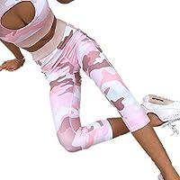 Morbuy Yoga Wear Set, Women's 2 Pcs Sports Bra Pants Set Yoga Wear Fitness Set