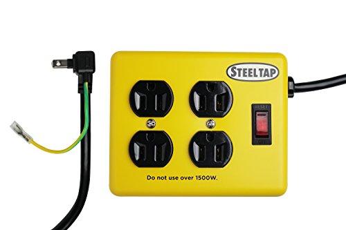 RoomClip商品情報 - ファーゴ スチール タップ STEEL TAP 電源タップ おしゃれ インテリア デザイン OAタップ コンセント 鉄 雷サージがガード AC4個口 3ピン PT400YE