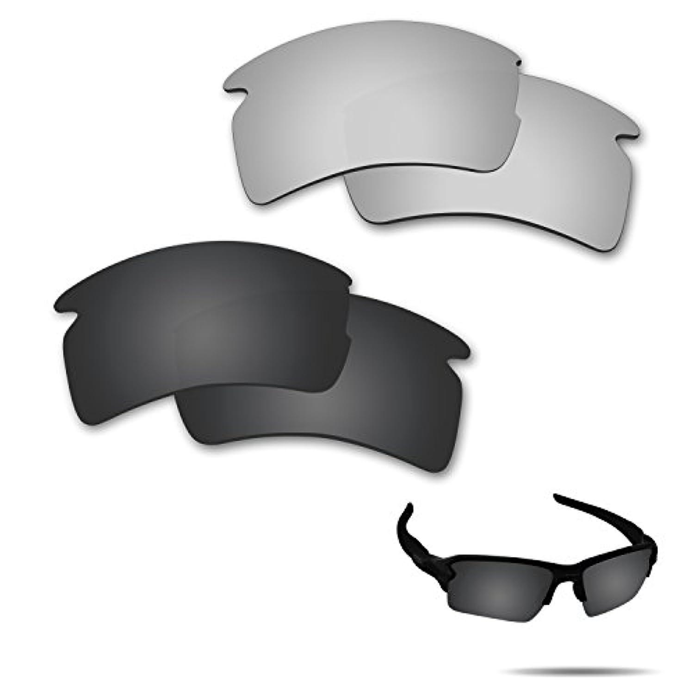 無関心サラダのぞき穴【2 pairs packed】Fiskr 剥がれ防止 Oakley Flak 2.0 XL交換用レンズ フラック2.0 XL 偏光レンズ