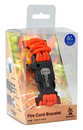 Craft(ブッシュクラフト) Bush Craft(ブッシュクラフト) ファイアコードブレスレット(着火剤になる紐 小型メタルマッチ入り) 02-03-550f-0013 セーフティーオレンジ XL