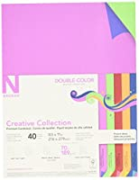 Creative Collection 98731 Neenah Paper Acid/Lignin Free Cardstock 70 lb. 8-1/2 x 11 Size Double Color 11 Height 8.5 Width 0.16 Length (Pack of 40) [並行輸入品]