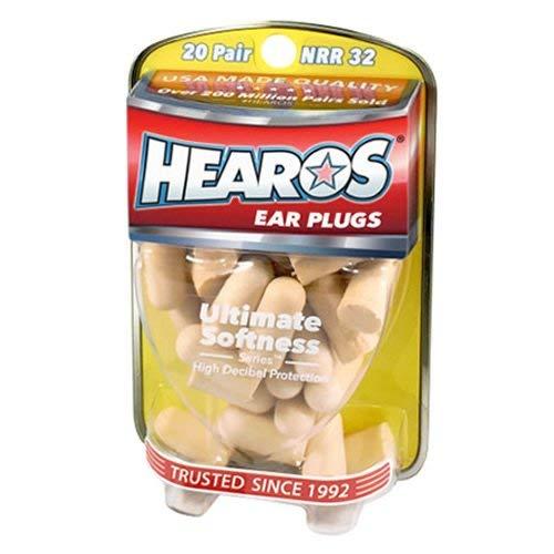 Hearos Ear Plugs Ultimate Softness Series ヒーローズ イヤープラグ アルティメット ソフトネス シリーズ 柔らかい耳栓 20ペア