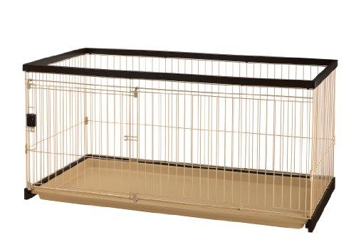 リッチェル 木製お掃除簡単ペットサークル 150-80 ダークブラウン