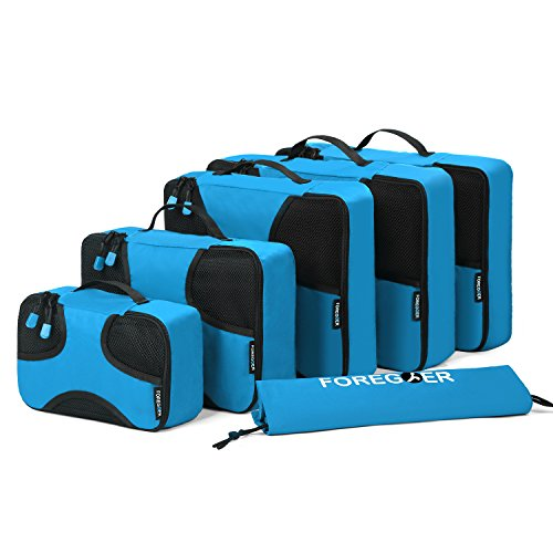 FOREGOER(フォーゴア) スーツケース整理用 小物 衣類 収納 アレンジケース 6点セット ブルー