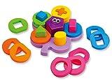 Wishtime ガラガラ 形合わせ 幼児 パズル たんぐらむ 知育 はめこみ 型はめ ブロック 子供 おもちゃ(男の子 女の子 男女共用、12ヶ月から)