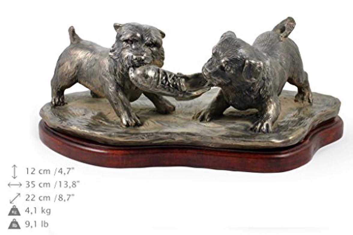 電話に出るびっくり良心的ノリッチ・テリア (お香) 犬のフィギュア 森の像 限定版 アートドッグ