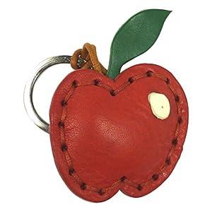 LA CUOIERIA(ラ・クオイエリア) キーホルダー ハンドメイド 本革 イタリア製 リンゴ P346