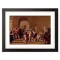ヨハン・フリードリヒ・オーファーベック Overbeck, Johann Friedrich 「Jason vor seinem Onkel Pelias. 1807/08.」 額装アート作品