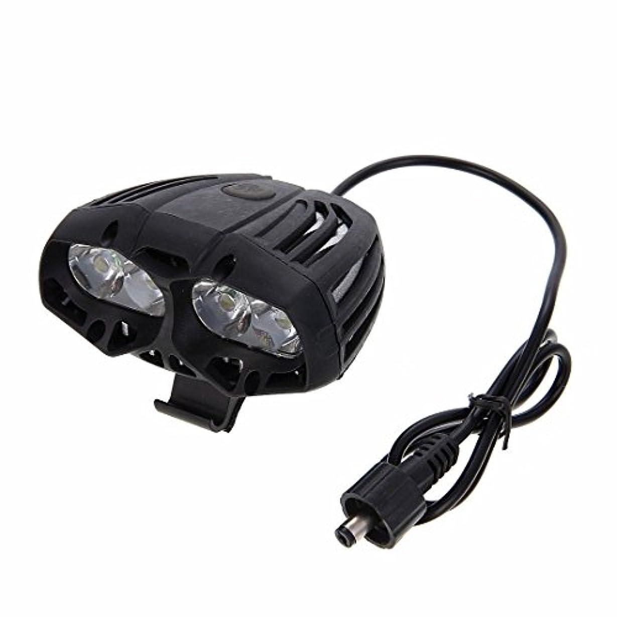 オーケストラクローン広範囲JVSISM ブラック 防水LED 自転車フロントライト XML T6 4モード 屋外スポーツサイクリングヘッドライトランプ