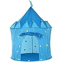 Lian Children Playテント赤ちゃんゲームハウス人形Houseクリエイティブ折りたたみ可能なYurt城ギフト(ブルー、ピンク、レッド100130 CMのパックの1 ) ブルー 14701