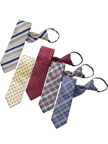 BUSINESSMAN SUPPORT(ビジネスマンサポート) ワンタッチネクタイ ジップ式簡単ネクタイ 5本セット Dタイプ zip5d-a1e1f2j1k2
